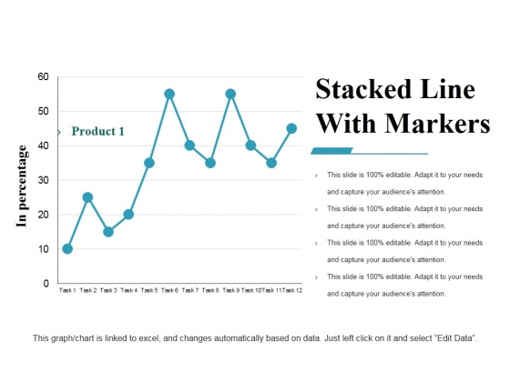Stacked Line With Markers Ppt PowerPoint Presentation Icon Format