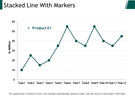 Stacked Line With Markers Ppt PowerPoint Presentation Inspiration Example Topics