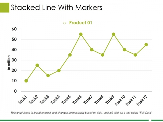 Stacked Line With Markers Ppt PowerPoint Presentation Slide Download