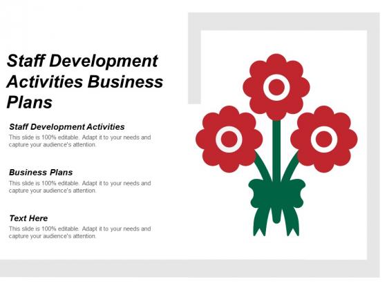 Staff Development Activities Business Plans Ppt PowerPoint Presentation Show Outline