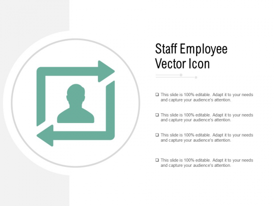 Staff Employee Vector Icon Ppt PowerPoint Presentation Outline Graphics Design