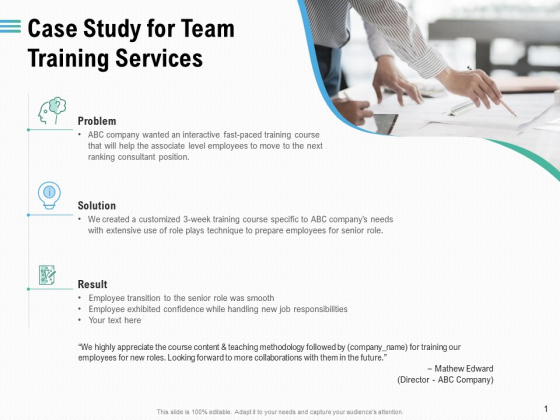 Staff Engagement Training And Development Case Study For Team Training Services Introduction PDF