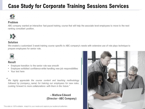 Staff Engagement Training And Development Proposal Case Study For Corporate Training Sessions Services Rules PDF