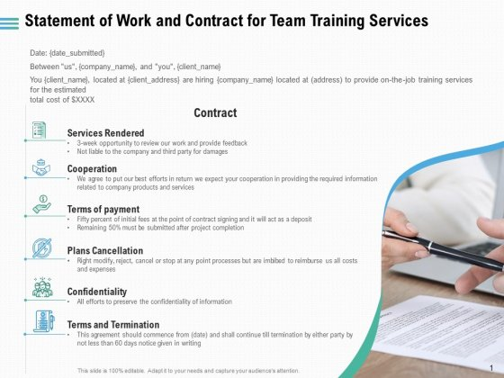 Staff Engagement Training And Development Statement Of Work And Contract For Team Training Services Microsoft PDF