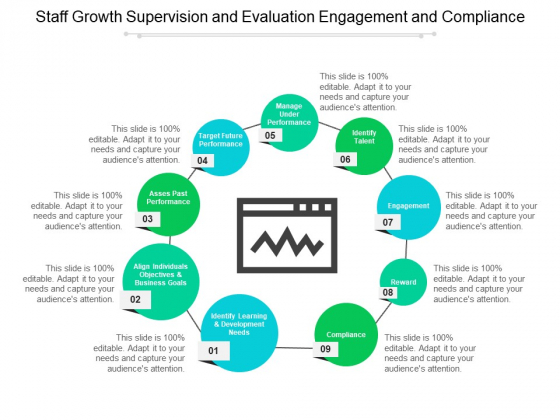 Staff Growth Supervision And Evaluation Engagement And Compliance Ppt PowerPoint Presentation Infographic Template Background Image