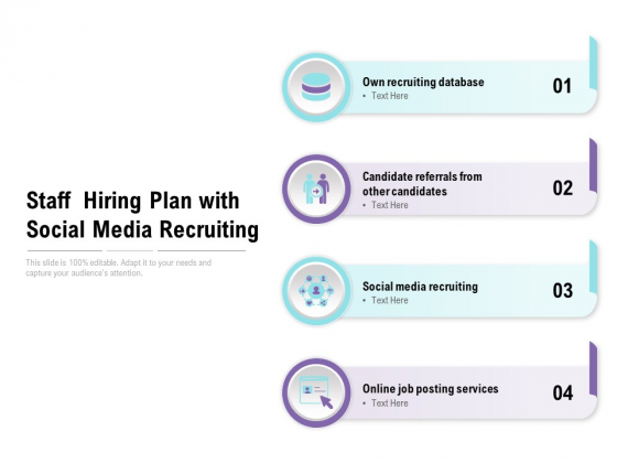 Staff Hiring Plan With Social Media Recruiting Ppt PowerPoint Presentation Visual Aids Layouts