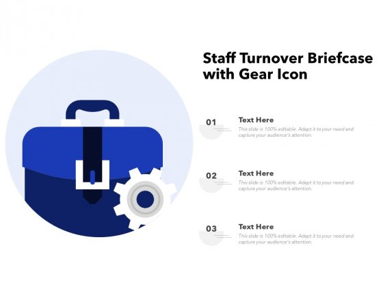 Staff Turnover Briefcase With Gear Icon Ppt PowerPoint Presentation Model Layout PDF