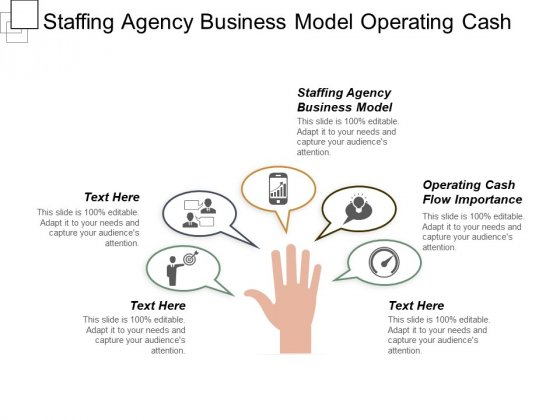 Staffing Agency Business Model Operating Cash Flow Importance Ppt PowerPoint Presentation Pictures Designs