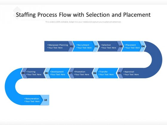 Staffing Process Flow With Selection And Placement Ppt PowerPoint Presentation Ideas Designs Download PDF