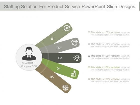 Staffing Solution For Product Service Powerpoint Slide Designs