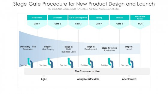 Stage Gate Procedure For New Product Design And Launch Ppt PowerPoint Presentation Gallery Samples PDF