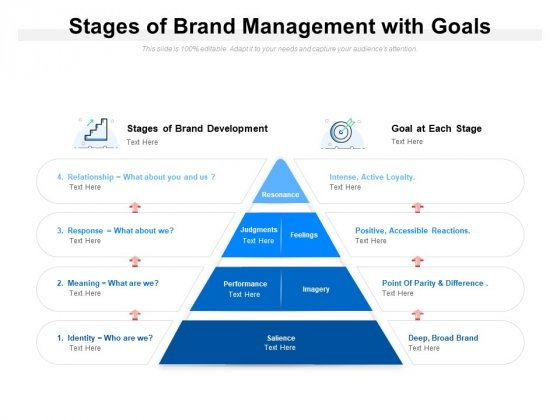 Stages Of Brand Management With Goals Ppt PowerPoint Presentation Professional Maker