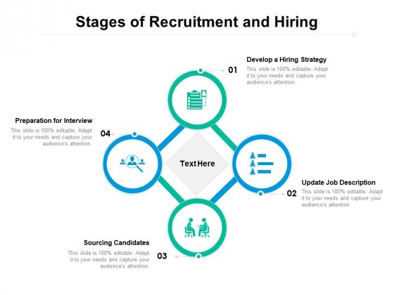 Stages Of Recruitment And Hiring Ppt PowerPoint Presentation Icon Styles PDF
