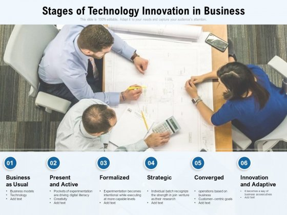 Stages Of Technology Innovation In Business Ppt PowerPoint Presentation Gallery Ideas PDF