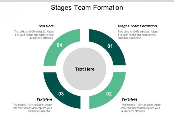 Stages Team Formation Ppt Powerpoint Presentation Slides Ideas Cpb