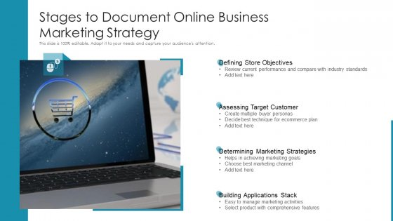 Stages To Document Online Business Marketing Strategy Ppt Slides Graphics Example PDF