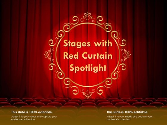 Stages With Red Curtain Spotlight Ppt PowerPoint Presentation Ideas Visual Aids