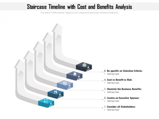 Staircase_Timeline_With_Cost_And_Benefits_Analysis_Ppt_PowerPoint_Presentation_File_Show_PDF_Slide_1