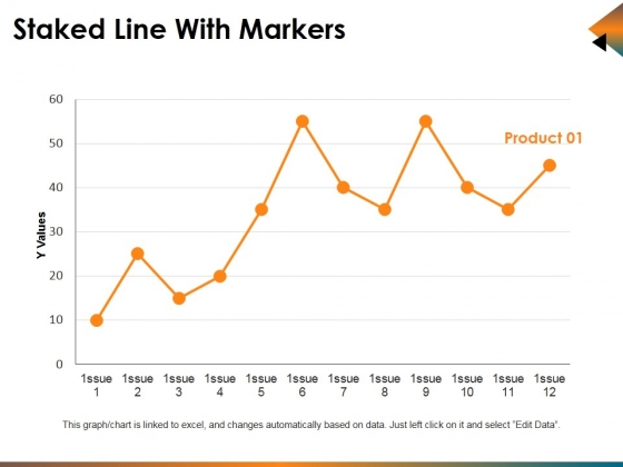 Staked Line With Markers Ppt PowerPoint Presentation Infographics Show