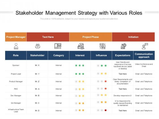 Stakeholder_Management_Strategy_With_Various_Roles_Ppt_PowerPoint_Presentation_Infographics_Brochure_PDF_Slide_1