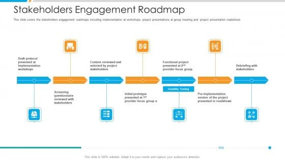 Stakeholders Engagement Roadmap Demonstration PDF