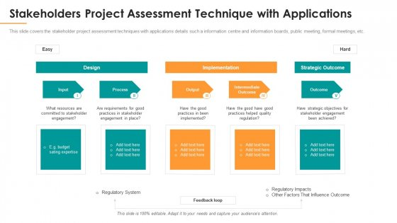 Stakeholders Project Assessment Technique With Applications Microsoft PDF