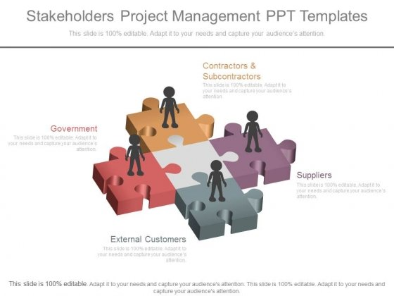 Stakeholders Project Management Ppt Templates