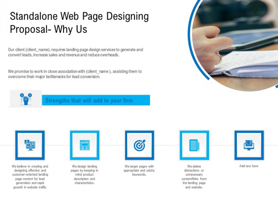 Standalone Web Page Designing Proposal Why Us Background PDF