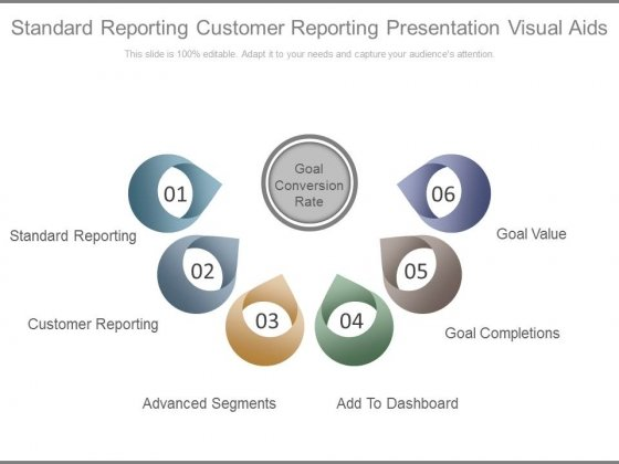 Standard Reporting Customer Reporting Presentation Visual Aids Ppt Slides