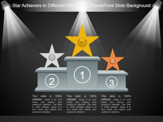 Star Achievers In Different Work Areas Powerpoint Slide Background