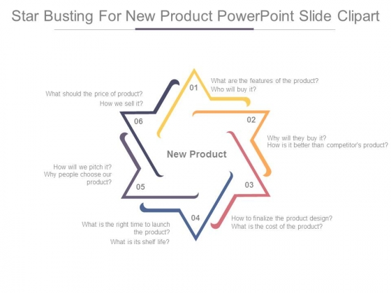 Star Busting For New Product Powerpoint Slide Clipart