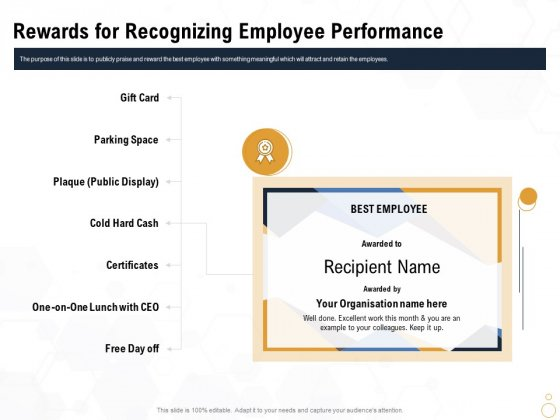 Star Employee Rewards For Recognizing Employee Performance Pictures PDF