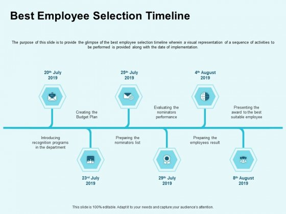 Star Performer Best Employee Selection Timeline Ppt Icon Files PDF