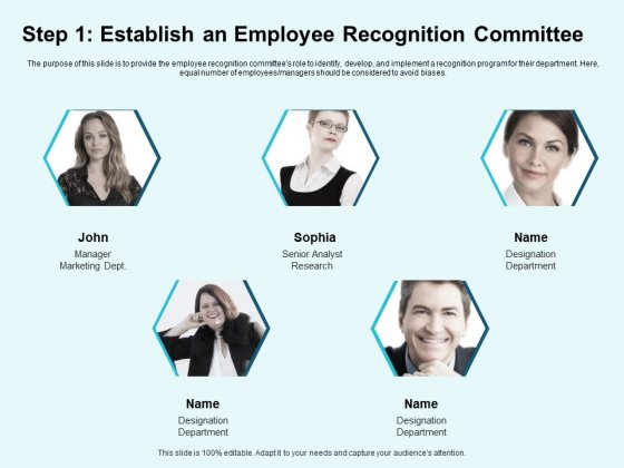 Star Performer Step 1 Establish An Employee Recognition Committee Mockup PDF