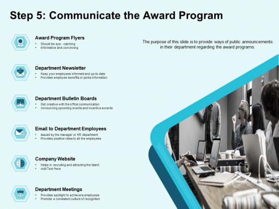 Star Performer Step 5 Communicate The Award Program Ppt Inspiration Pictures PDF