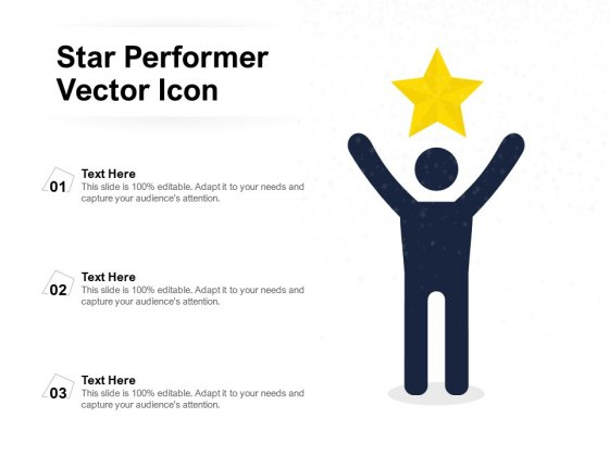 Star Performer Vector Icon Ppt PowerPoint Presentation Gallery Backgrounds