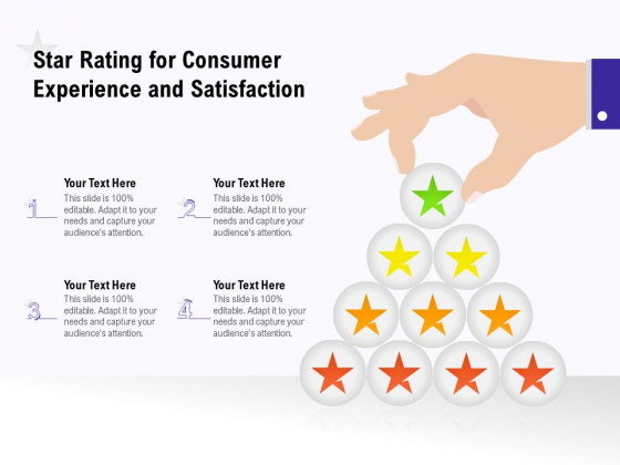 Star Rating For Consumer Experience And Satisfaction Ppt PowerPoint Presentation File Structure