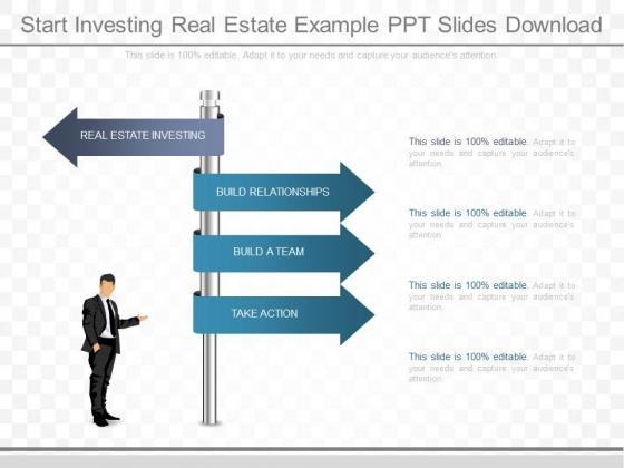 Start Investing Real Estate Example Ppt Slides Download
