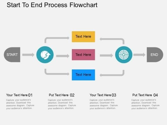 Start To End Process Flowchart Powerpoint Templates