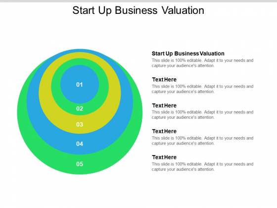 Start Up Business Valuation Ppt PowerPoint Presentation Slides Example Cpb