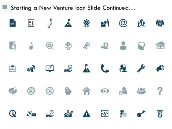 Starting A New Venture Icon Slide Continued Management Ppt PowerPoint Presentation Model Inspiration