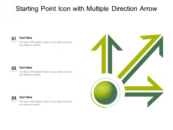 Starting Point Icon With Multiple Direction Arrow Ppt PowerPoint Presentation Gallery Layout PDF