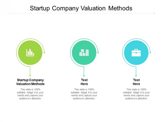 Startup Company Valuation Methods Ppt PowerPoint Presentation Professional Graphics Tutorials Cpb Pdf