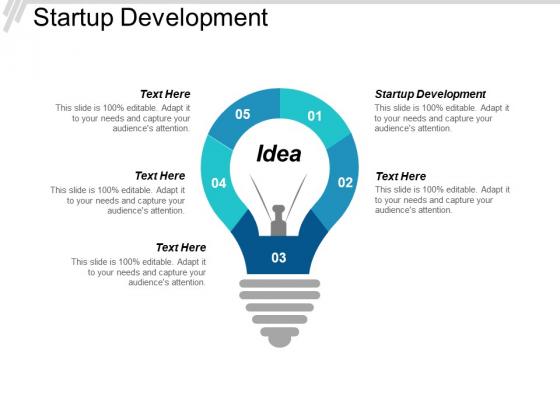 Startup Development Ppt PowerPoint Presentation Outline Slideshow Cpb
