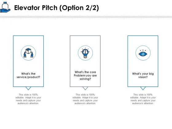 Startup Investment Ideas Elevator Pitch Option Ppt Inspiration Graphics PDF