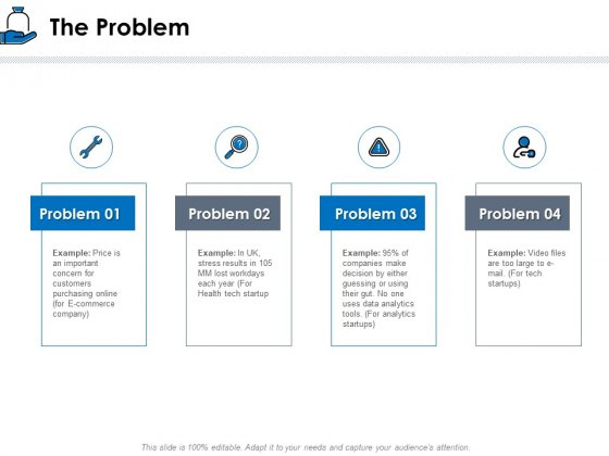 Startup Investment Ideas The Problem Ppt Show Picture PDF
