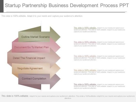 Startup Partnership Business Development Process Ppt