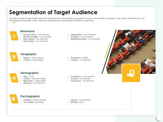 Startup Presentation For Collaborative Capital Funding Segmentation Of Target Audience Ppt Slides Download PDF
