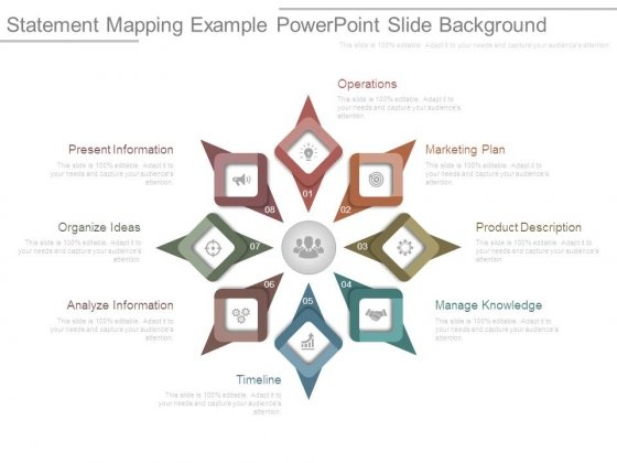 Statement Mapping Example Powerpoint Slide Background