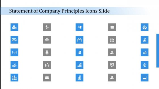 Statement Of Company Principles Statement Of Company Principles Icons Slide Ppt Summary Example PDF